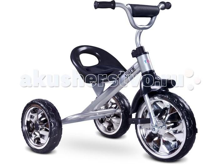 Велосипед трехколесный Toyz YorkYorkToyz Велосипед York - этот классический детский трехколесный велосипед придется по душе вашему юному велосипедисту. Эта модель не обременена лишними деталями и понравится родителям, которые считают, что велосипед не должен использоваться в качестве прогулочной коляски. А ребенок в три года способен быстро освоить азы велосипедной езды. Компактный York представляет из себя классическую конструкцию известного всем трехколесного велосипеда, проверенного временем и не одним поколением велосипедистов. Устойчивый и безопасный, он идеально подходит на роль первого велосипеда вашего непоседы.  Легкий и компактный велосипед удобен при транспортировке, он не займет много места во время хранения. А как на нем легко и весело кататься! Велосипед имеет очень простую конструкцию, легко собирается. Задние большие колеса расположены параллельно друг другу, на значительном расстоянии, что гарантирует стабильность.  Среди предложенных ярких и сочных расцветок, вы легко подберете ту, которая понравится вашему непоседе. Ведь ни для кого не секрет, что велосипед должен очень нравиться своему владельцу, чтобы у ребенка было желание кататься.  Особенности: Прочная рама устойчива к повреждениям  Удобное пластиковое сидение имеет невысокую фиксированную спинку  Руль удобен в использовании, имеет нескользящие накладки и регулируется по высоте  Большие и устойчивые колеса изготовлены из пены, им не страшен прокол Сидение в данной модели не регулируемое  На таком велосипеде ваш малыш может кататься вплоть до пяти лет  Применение высококачественных, прочных материалов позволит эксплуатировать велосипед много лет, катая не одно поколение ребятишек Размеры: 77 x 48 x 66 см<br>