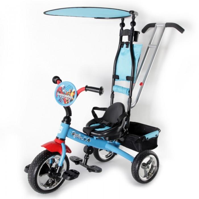 Купить Трехколесные велосипеды, Велосипед трехколесный Transformers с тентом и сумкой