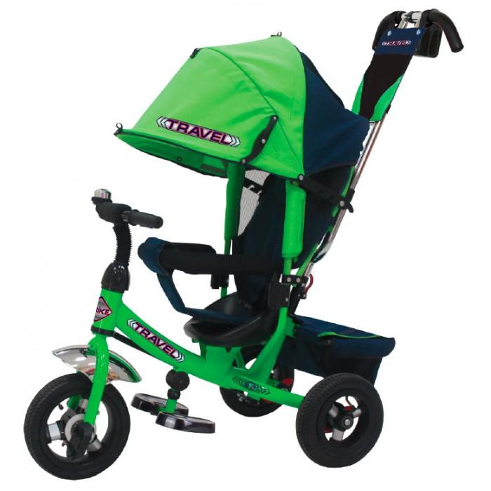 Велосипед трехколесный Travel TT2 (колеса ПВХ/звонок)TT2 (колеса ПВХ/звонок)Велосипед трехколесный Travel TT2 (колеса ПВХ/звонок) обеспечит комфорт и удовольствие для вашего малыша во время прогулки.  Такой универсальный детский транспорт позволяет ребенку как ездить самостоятельно, так и кататься под контролем взрослого. При самостоятельном передвижении ребенок будет приводить велосипед в движение при помощи педалей и управлять им рулем. Если же велосипед выполняет функцию прогулочной коляски, взрослый сможет толкать его перед собой при помощи специальной ручки, которая также служит и для управления.  Особенности: Благодаря наличию ручки управления для родителя велосипед можно использовать как коляску.  Если малыш самостоятельно не достает до педалей, если устал их крутить или просто уснул, то управлять велосипедом не составит труда. Удобная подставка для ножек легко складывается под раму.  Ортопедическое сидение имеет 3 положения: сидя, полулежа и лежа. Спереди сидения установлена дуга безопасности.  Глубокий козырек защитит малыша от солнца и дождя. Козырек и руль велосипеда регулируются по высоте и настраиваются в соответствии с ростом ребенка.  Если снять козырек и родительскую ручку, то малыш получает велосипед, которым может управлять самостоятельно!  В комплекте с велосипедом идет бутылочка и сумка для разных мелочей, которые крепятся на родительскую ручку управления.  Под сидением есть вместительный багажник.  На руле прикреплен клаксон.  На колесах резиновые шины, оснащенные протектором для лучшего сцепления с дорогой.  Прочный металлический корпус, регулируемые элементы и съемные детали позволят с удовольствием пользоваться этой моделью в течении нескольких лет<br>
