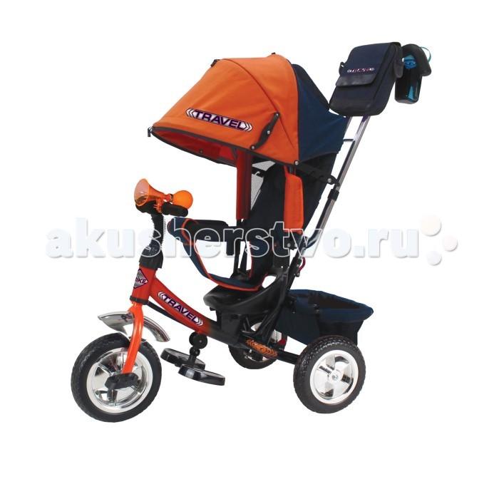 Велосипед трехколесный Travel TT2 (колеса ПВХ/клаксон)TT2 (колеса ПВХ/клаксон)Велосипед трехколесный Travel TT2 (колеса ПВХ/клаксон) обеспечит комфорт и удовольствие для вашего малыша во время прогулки.  Такой универсальный детский транспорт позволяет ребенку как ездить самостоятельно, так и кататься под контролем взрослого. При самостоятельном передвижении ребенок будет приводить велосипед в движение при помощи педалей и управлять им рулем. Если же велосипед выполняет функцию прогулочной коляски, взрослый сможет толкать его перед собой при помощи специальной ручки, которая также служит и для управления.  Особенности: Благодаря наличию ручки управления для родителя велосипед можно использовать как коляску.  Если малыш самостоятельно не достает до педалей, если устал их крутить или просто уснул, то управлять велосипедом не составит труда. Удобная подставка для ножек легко складывается под раму.  Ортопедическое сидение имеет 3 положения: сидя, полулежа и лежа. Спереди сидения установлена дуга безопасности.  Глубокий козырек защитит малыша от солнца и дождя. Козырек и руль велосипеда регулируются по высоте и настраиваются в соответствии с ростом ребенка.  Если снять козырек и родительскую ручку, то малыш получает велосипед, которым может управлять самостоятельно!  В комплекте с велосипедом идет бутылочка и сумка для разных мелочей, которые крепятся на родительскую ручку управления.  Под сидением есть вместительный багажник.  На руле прикреплен клаксон.  На колесах резиновые шины, оснащенные протектором для лучшего сцепления с дорогой.  Прочный металлический корпус, регулируемые элементы и съемные детали позволят с удовольствием пользоваться этой моделью в течении нескольких лет<br>