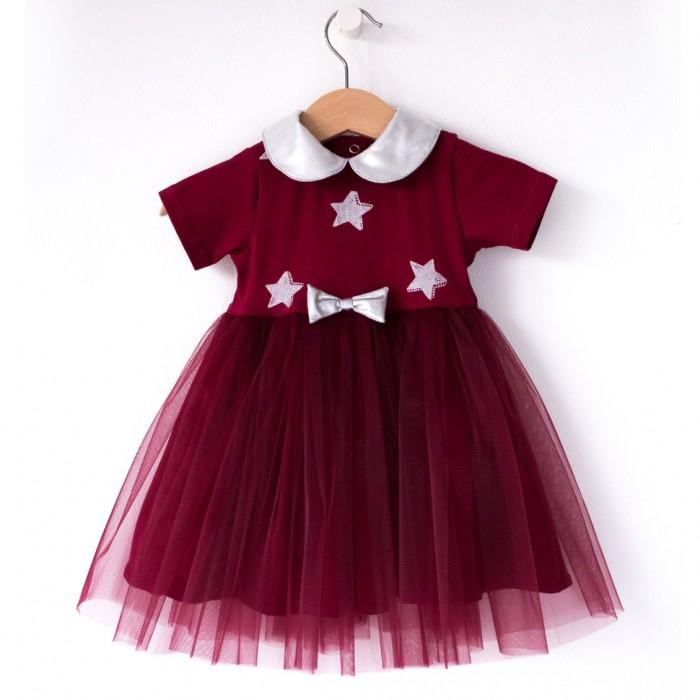 Картинка для Trendyco kids Платье трикотажное с фатином Звезды