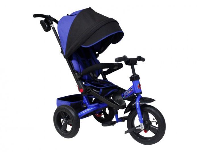 Велосипед трехколесный Trike TA5TA5Велосипед трехколесный Trike TA5 обеспечит комфорт и удовольствие для вашего малыша во время прогулки.  Такой универсальный детский транспорт позволяет ребенку как ездить самостоятельно, так и кататься под контролем взрослого. При самостоятельном передвижении ребенок будет приводить велосипед в движение при помощи педалей и управлять им рулем. Если же велосипед выполняет функцию прогулочной коляски, взрослый сможет толкать его перед собой при помощи специальной ручки, которая также служит и для управления.  Особенности: Модель совмещает в себе коляску и велосипед, так как имеет удобное сиденье, которое можно повернуть на 180 градусов и посадить ребенка лицом к маме. Благодаря этому малыш сможет постоянно видеть маму и не будет капризничать. Сиденье оснащено высокой наклонной спинкой и пятиточечными ремнями безопасности. Поэтому родители могут не беспокоиться за безопасность малыша и быть уверенными, что он не соскользнет во время движения велосипеда. Удобная родительская ручка регулируется по высоте и управляет движением велосипеда, пока малыш самостоятельно не научился рулить.  Надувные колеса обеспечивают плавный и мягкий ход, сглаживая неровности дороги. Для комфорта самых маленьких предусмотрены дополнительные подножки, которые можно будет убрать, когда малыш подрастет и станет доставать до педалей. Для возможности прогулок под мелким дождиком или палящим солнцем велосипед оснащен большим и широким капюшоном. Ведь детям следует почаще гулять на свежем воздухе, а благодаря такому козырьку ребенок будет чувствовать себя комфортно в любую погоду. При необходимости капюшон можно убрать или снять.  Под сиденьем установлена вместительная корзина для игрушек или маминых покупок. Размер велосипеда: 110 x 53 x 110 см<br>