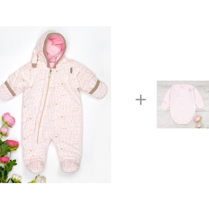 Картинка для Трия Комбинезон Вельбоа Комфорт Слова и боди Футер для новорожденных Мышка