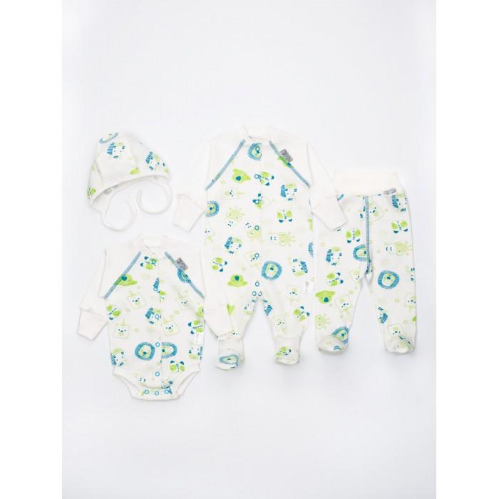 Комплекты детской одежды Трия Комплект НВ Зоопарк (4 предмета) боди песочники комбинезоны трия комбинезон нв