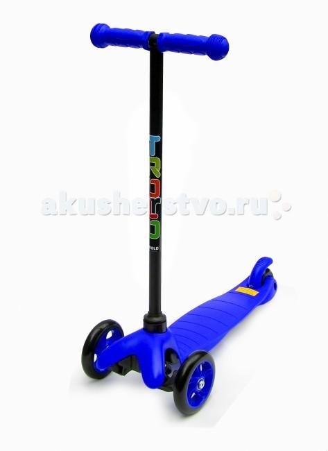 Трехколесный самокат Trolo Mini (нерегулируемый по высоте руль)Mini (нерегулируемый по высоте руль)Самокат Trolo Mini предназначен для комфортного катания детей от 2 до 5 лет, а при использовании специального О-образного руля с сидением - с 1 года.  Особенности: материал рамы: пластик, стекловолокно; жесткость колес: 82А; резиновые грипсы с защитными наконечниками;  индивидуальная упаковка товара - коробка. в комплекте идут шестигранные ключи. максимальная нагрузка 20 кг возраст: 2 - 5 лет (Внимание! По рекомендациям на упаковке: 3+). 3-х колесный диаметр передних колес 12 см диаметр заднего колеса 7 см колеса полиуретановые тормоз ножной тип руля классический максимальная высота 66 см размеры платформы 32х14 см рост: от 85 см; размеры 55х27х66 см вес 1.5 кг<br>