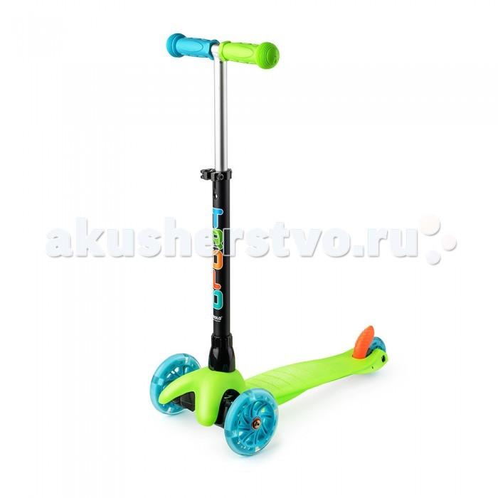 Трехколесный самокат Trolo Mini UPMini UPНадежный трехколесный самокат для детей Trolo Mini UP от 2-х до 5 лет с регулируемой по высоте рулевой ручкой.  Этот разноцветный детский кикборд станет любимой игрушкой и транспортом для вашего малыша. Закрытые подшипники высокого класса ABEC-5 обеспечивают плавный ход и отличный накат. Пластиковая платформа с рамой из стекловолокна обладает высокой степенью эластичности и выдержит любую нагрузку, а благодаря регулируемой по высоте ручке, самокат прослужит долгое время, ребенку будет комфортно кататься до пяти лет. Яркая расцветка в стиле raibow обязательно понравится детям, ведь именно в этом возрасте они любят все яркое и разноцветное.  Поставляется в собранном виде - для начала эксплуатации достаточно вставить (до щелчка) рулевую стойку в основание рамы. Для регулировки высоты руля достаточно отпустить хомут, выбрать удобное положение и зажать хомут.  Особенности: Рама: Стекловолокно + Пластик+Алюминий Размер колес: 120 мм, заднее 70 мм. материал PU, жесткость 82А Грипсы: Травмобезопасные с защитной подушечкой Ширина руля: 27 cм Регулируемая высота руля: Min 52 cm, Max 71 см. Длина платформы для ног: 29 cм Длина самоката: 55 cм Максимальная нагрузка: 20 кг Вес: 1,5 кг Поворот колес, наклоном руля и платформы. Вес в упаковке: 2.3 кг Объем: 0.02 м&#179;<br>