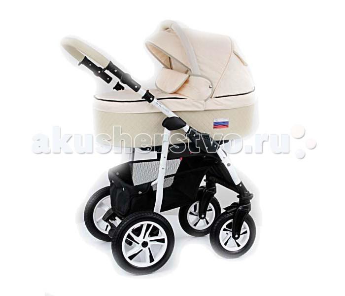 Коляска Tutic Patriot 2 в 1Patriot 2 в 1ДКоляска Tutic Patriot 2 в 1 выполнена из самых качественных материалов, безопасных для здоровья малышей. Элегантная, стильная, функциональная  - бережно позаботится о комфорте Вашей крохе.   Шасси коляски Tutic Patriot выполнены из легкого алюминия на надувных колесах с подшипниками против скольжения.  Передние колеса имеют меньший диаметр, чем задние и оснащены функцией поворота и фиксирования.   Диски колес вписываются в общий цветовой дизайн коляски Patriot.  Удобная педаль центрального тормоза, легко блокируются оба задних колеса.   Ручка рамы плавно регулируется и надежно фиксируется на нужном уровне высоты. Ее рукоять обшита высокопрочной эко - кожей.  Просторная углубленная корзина для покупок с удобным наклоном и расположением, крепится на прочные заклепки и легко снимается для стирки.  Люлька Tutic Patriot с высокими бортами, имеет хорошую ширину.  В ее днище расположен регулируемый подголовник.  Внутренняя обивка выполнена из натурального хлопка.  Бесшумно регулирующийся капюшон коляски, оснащен окошком для вентиляции и ручкой для переноски люльки.  Все функциональные детали практично встроены в дизайн и ткань капюшон.  Прогулочный модуль Tutic Patriot входит в данную комплектацию.  Он снабжен 4-х ступенчатой регулировкой наклона спинки, регулирующийся подставкой для ножек, предохранительным бампером, с регулировкой высоты установки.   Прогулочный модуль Tutic Patriot, предусматривает установку по направлению движения.<br>
