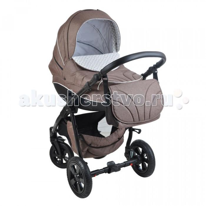 Коляска Tutis Mimi 3 в 1Mimi 3 в 1Коляска Tutis Mimi 3 в 1. Стильный дизайн, высококлассные ткани с узорами и мощное шасси на пневматических колесах с амортизацией – эта модель создана для удобства новоиспеченных родителей.   С плохими дорогами детская коляска Tutis Mimi (Тутис Мими) 3 в 1 отлично справляется: она легко катится по заснеженным улицам, грунтовым тропинкам и разбитому асфальту.  Передние поворотные колеса обеспечивают отменную маневренность в черте города и местах с ограниченным свободным пространством.   Спальный и прогулочный модули в детской коляске Tutis Mimi (Тутис Мими) 3 в 1 оснащены мультипозиционными спинками и объемными защитными капюшонами с «дышащими» отсеками из сетки. Ручка управления имеет несколько позиций по высоте, что очень удобно для мам и пап разного роста.   Если вы ищете маневренный вездеход, купите детскую коляску Tutis Mimi (Тутис Мими) 3 в 1 за разумную цену. Складывается конструкция простым движением до компактных габаритов.  Шасси: легкая алюминиевая конструкция съемные надувные колеса мягкая амортизация передние колеса с поворотной функцией на 360° педаль тормоза на задней оси изменение высоты родительской ручки ручка покрыта «кожаной» обшивкой текстильная корзина открытого типа компактное сложение «книжкой».  Люлька: система вентиляции в основании внутренняя обшивка из х/б ткани снимается ортопедический кокосовый матрас изогнутое основание снаружи для укачивания крохи, как в колыбели многопозиционный подголовник регулируемый капюшон с вентиляционным отсеком и окошком для наблюдения центрированная ручка-переноска, встроенная в капор высокий отворот закрывает младенца от ветра и снега.  Прогулочное сиденье: установка на раму в 2-х положениях: к маме / лицом к дороге спинка раскладывается до горизонтального положения съемный хлопковый вкладыш мультипозиционный капюшон с сетчатым отсеком 5-титочечные ремни безопасности регулируемая подножка из текстиля перекладина перед ребенком с разделителем ножек.  Автокресло 0+: для малыше