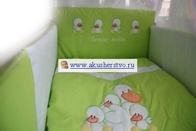 Постельные принадлежности , Комплекты в кроватку Tuttolina Four Duck (7 предметов) арт: 32683 -  Комплекты в кроватку