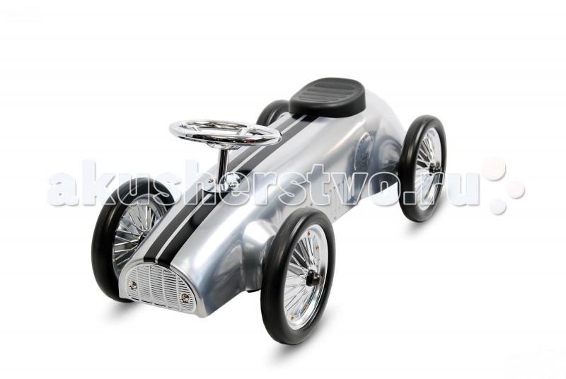 Каталка TVL SmallSmallКаталка TVL Small идеальной обтекаемой формы – образец безукоризненного ретро-стиля.   Особенности: Эта модель, благодаря минималистичной конструкции, очень хорошо смотрится и имеет оптимальных характеристики безопасности и управляемости.  Удобное, нескользящее, мягкое сидение, отличный руль, управляющий передними колесами и прочный металлический корпус автомобиля гарантируют безопасность водителя.  Крупные колеса с резиновыми покрышками отвечают за комфорт в поездках.<br>