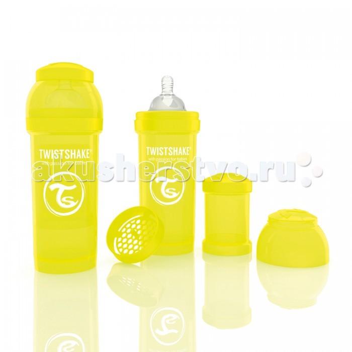 Бутылочки Twistshake с контейнером 260 мл контейнер для смеси