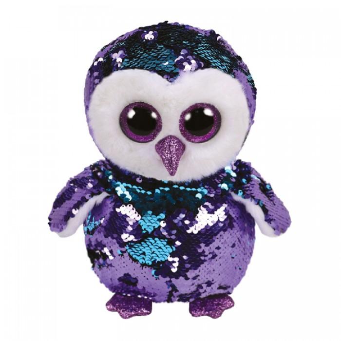 Мягкие игрушки, Мягкая игрушка TY Мунлайт сова с пайетками 25 см  - купить со скидкой