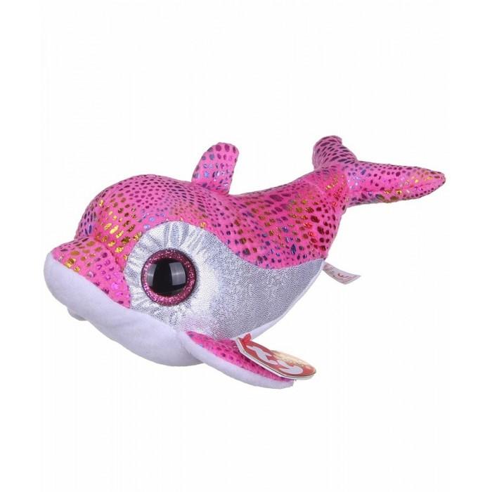 Мягкие игрушки TY Beanie Boos Дельфин Sparkles розовый