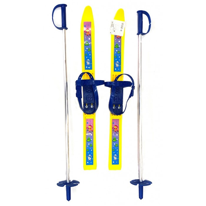 Ледовые коньки и лыжи, Тяни-Толкай Лыжи детские с палками Олимпик-спорт  - купить со скидкой