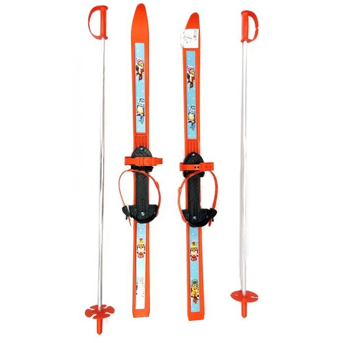 Купить Ледовые коньки и лыжи, Тяни-Толкай Лыжи детские с палками Вираж-спорт