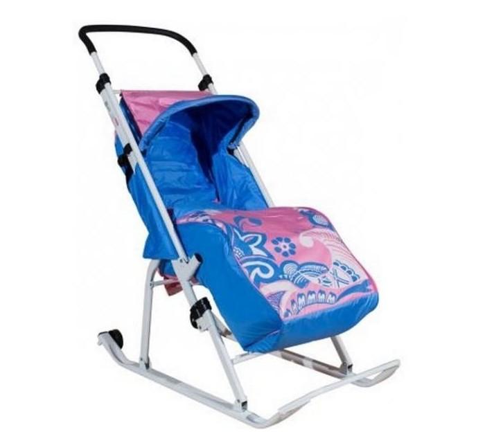 Купить Санки-коляски, Санки-коляска Тяни-Толкай трансформер Зимняя сказка