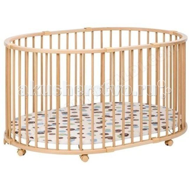 Манеж Geuther Baby-ParcBaby-ParcМанеж Geuther Baby-Parcс надежным ограждением родители будут уверены, что ребенок находится в безопасности, а восемь колесиков с тормозами придадут манежу «шустрость» или, наоборот, твердую устойчивость, когда это необходимо.  Благодаря предлагаемому отдельно столику для еды и игры стульчик Swing  полностью независим от стола, его можно поставить в любом месте комнаты.  Отличительные особенности:большая площадь для игр  регулируемое по высоте дно - 3 уровня  дно покрыто высокопрочным непромокаемым материалом на мягкой основе  уютное спальное место создается благодаря дополнительному бамперу из мягкой  ткани, защищающему от сквозняка  фиксируемые поворотные колеса со стояночным тормозом  быстро собирается и разбирается без применения инструментов  СДЕЛАН из древесины чистой экологически в собранном виде компактен - легко хранить  Характеристики:Вес: 26 кг Размеры: 134 х 97 х 73 см  Цвет: натуральный  Материал: искусно обработанный цельный бук<br>