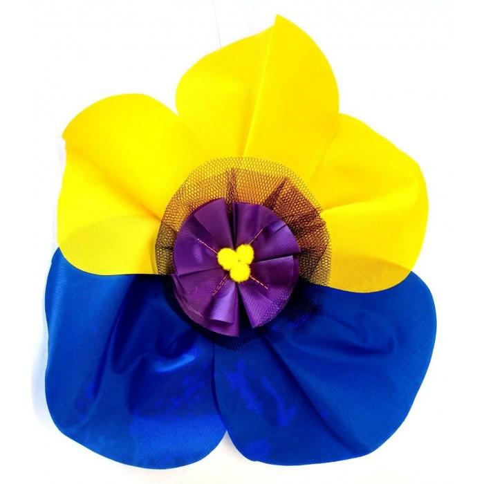 Карнавальные костюмы Учитель Карнавальный головной убор Цветок Анютины глазки 33 см