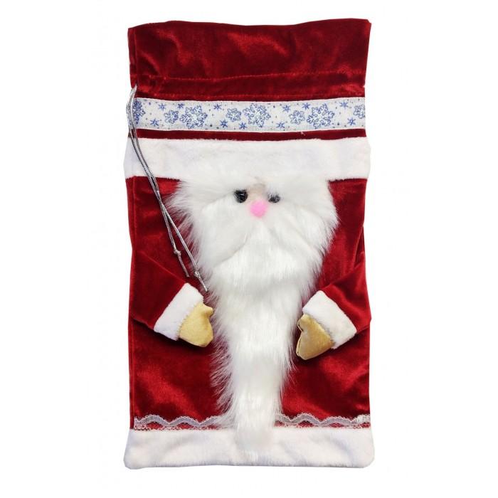 Новогодние украшения Учитель Мешок для подарков Дед Мороз 32х18 см kafunila 100