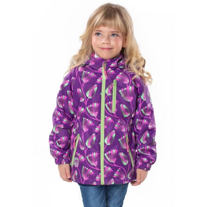 Верхняя одежда Uki kids Ветровка для девочки Тюльпанчики