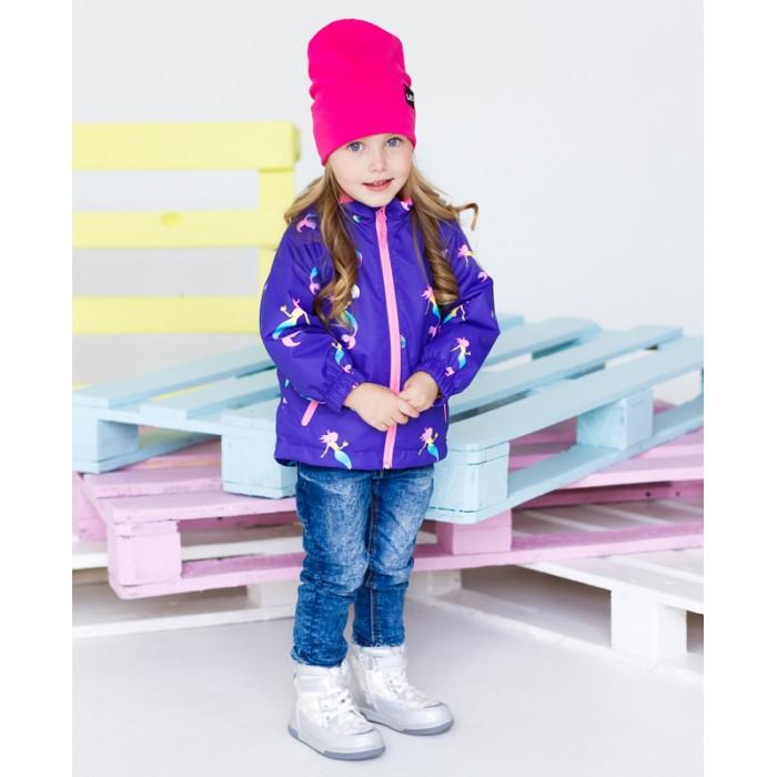 Верхняя одежда Uki kids Ветровка на флисе для девочки Адриана верхняя одежда uki kids куртка утепленная для девочки меланж