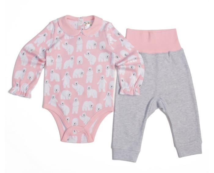 Комплекты детской одежды Умка Комплект для девочки (Боди и ползунки) 402-004-11701 умка лесные обитатели с винни пухом