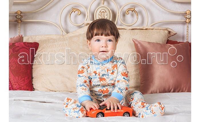 Комбинезоны и полукомбинезоны Умка Комбинезон Сафари goldy белый с голубыми манжетами