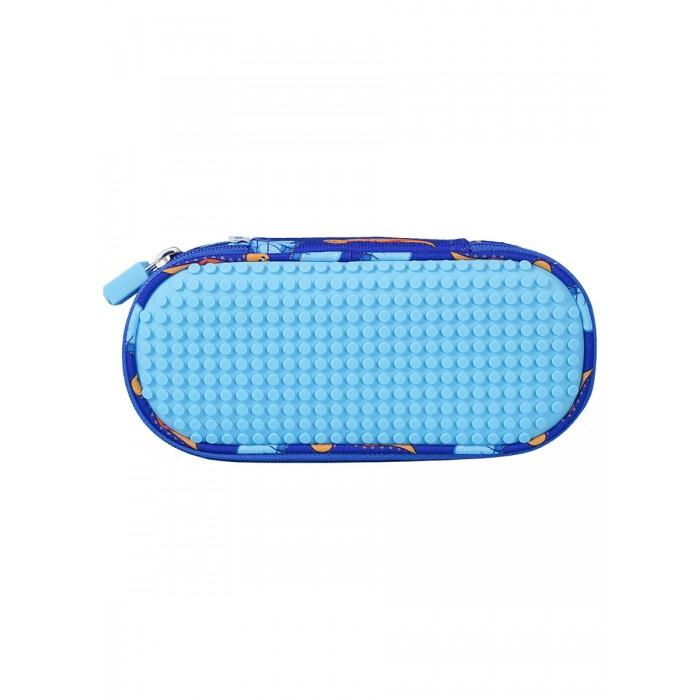 Upixel Пенал школьный пиксельный Super class pencil case WY-B012 с динозаврами