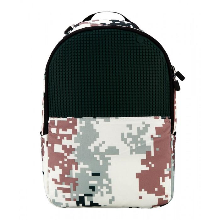 Upixel Рюкзак камуфляж Camouflage Backpack WY-A021Рюкзак камуфляж Camouflage Backpack WY-A021Upixel Рюкзак камуфляж Camouflage Backpack WY-A021 для девочек с мужским характером яркого преображения милитари стиля. Свободно подойдёт моднице тинейджеру или для похода в школу. К слову о походе, данную модель можно взять с собой на семейный пикник разместив внутри плюшевого друга.   Особенности: поверхность: 42 ряда, 29 линий материал: ткань 100% нейлон подкладка: 100% полиэстер панель: 100% силикон размер пикселей: маленький пиксели в комплекте: 120 шт.   дополнительно: фирменный буклет с возможными вариантами изображений. Рюкзак оснащён внешними карманами на липучках для бутылочек или термосов, регулируемыми по длине лямками с креплениями из пластика. Рядом с ручкой расположен мини кармашек, в котором можно скрыть ключи или ещё что-нибудь мало габаритное. На спине в основании есть плотно прилегающий карман. Внутри за пиксельной панелью расположен сетчатый карман на молнии, по спинке карман с уплотнёнными стенками и дополнительными четырьмя кармашками по внешней стороне, обычный открытый, один закрытый на липучке, два узких под ручку и карандаш.<br>