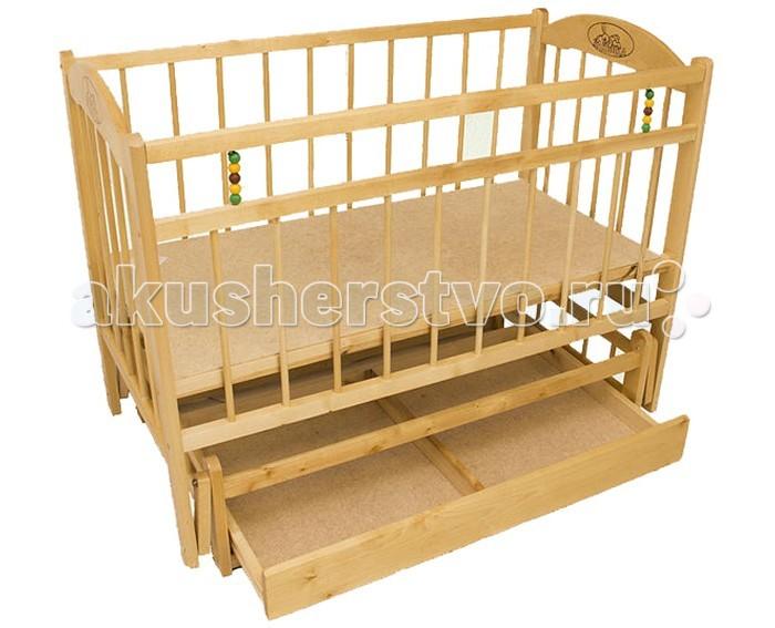 Детская кроватка Уренский Леспромхоз Заюшка 3-7 (маятник поперечный) с ящиком