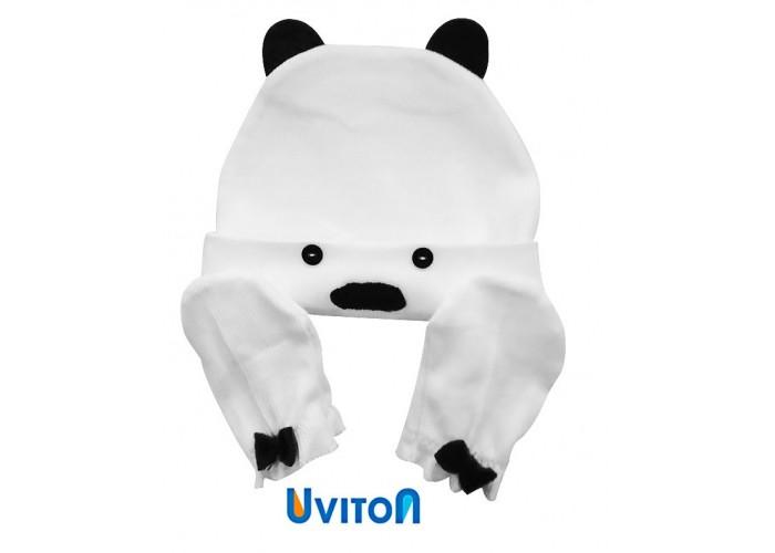 Шапочки и чепчики Uviton Набор шапочка и царапки Bear одежда для новорождённых