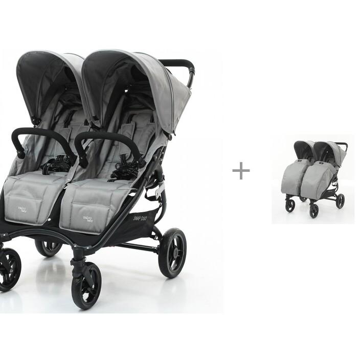 Купить Коляски для двойни и погодок, Valco baby Коляска для двойни Snap Duo с накидкой на ножки