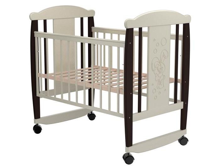 Купить Детские кроватки, Детская кроватка Valle Bunny 02 колесо-качалка
