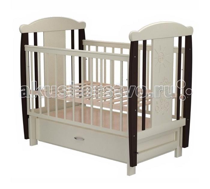 Детские кроватки Valle Cat 04 маятник поперечный с ящиком