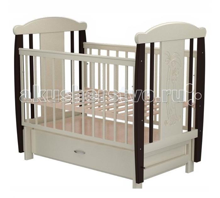 Детские кроватки Valle Giraffe 04 (маятник поперечный) с ящиком
