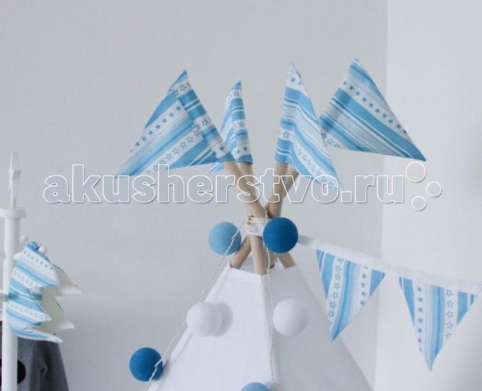 Палатки-домики VamVigvam Флажки к вигваму Stripes 4 шт. vamvigvam детский ночник pineapple
