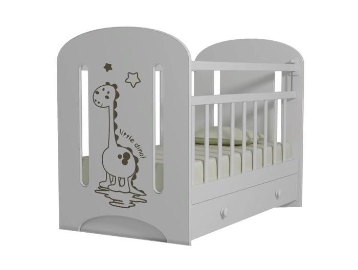 Детские кроватки ВДК Dino фигурные спинки маятник поперечный с ящиком детские кроватки вдк mon amur маятник поперечный с ящиком