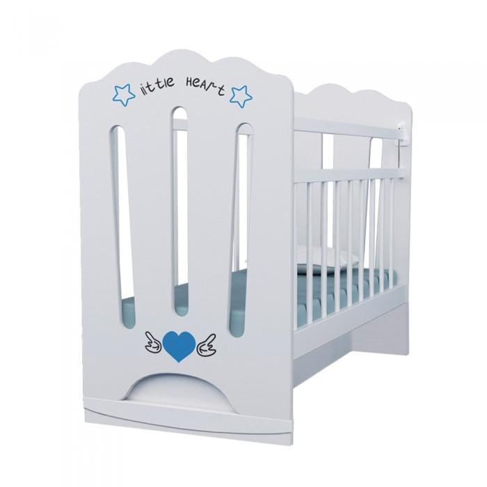 Картинка для Детская кроватка ВДК Little Heart колесо-качалка маятник поперечный