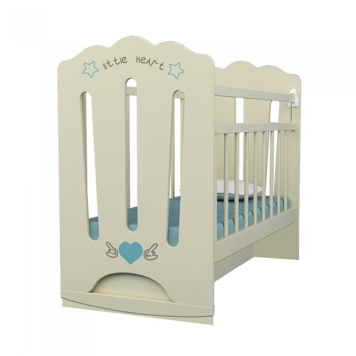 Детская кроватка ВДК Little Heart колесо-качалка маятник поперечный