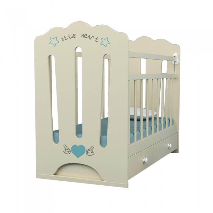 Детская кроватка ВДК Little Heart маятник поперечный с ящиком