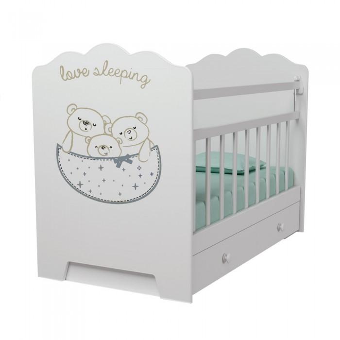 Детская кроватка ВДК Love Sleeping маятник поперечный с ящиком