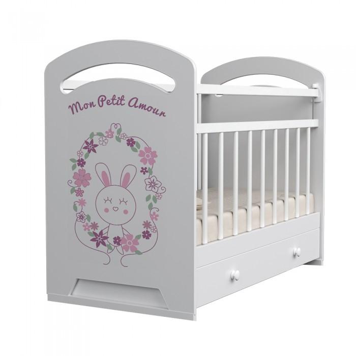 Детские кроватки ВДК Mon Amur маятник поперечный с ящиком детские кроватки вдк mon amur маятник поперечный с ящиком