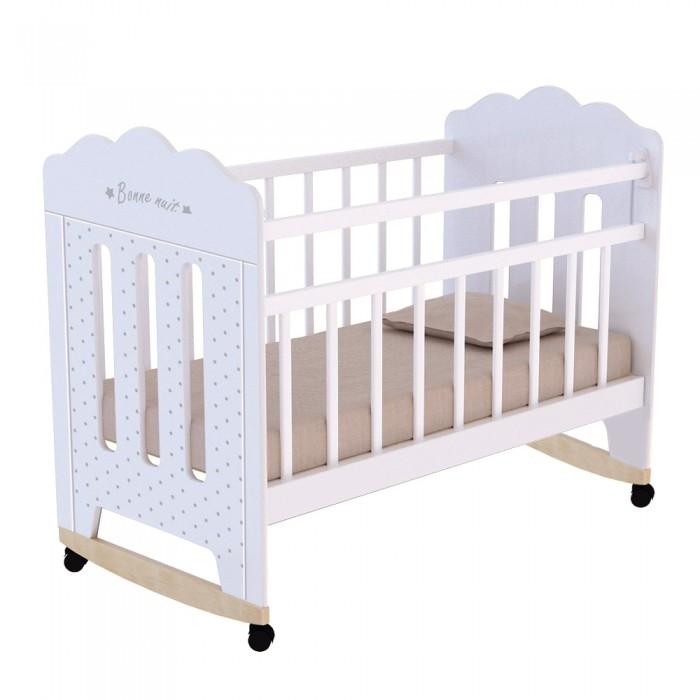 Детская кроватка ВДК Bonne фигурные спинки колесо-качалка