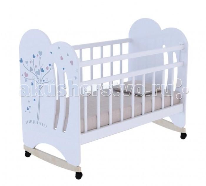 Детская кроватка ВДК Wind tree фигурные спинки колесо-качалка