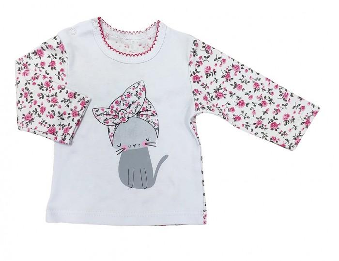 Распашонки и ползунки Veddi Фуфайка для девочки Кошечка