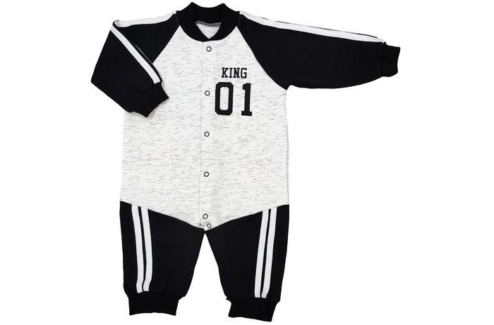 футболки и топы veddi фуфайка детская Боди, песочники, комбинезоны Veddi Комбинезон для мальчика King 01