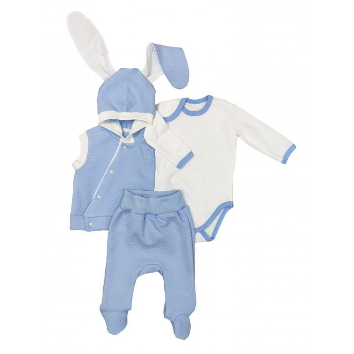 Комплекты детской одежды Veddi Комплект детский (кофточка, боди, ползунки) Ушастик