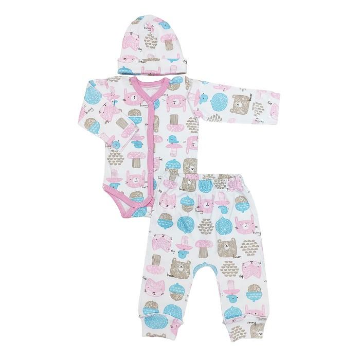 Комплекты детской одежды Veddi Комплект для девочки (боди, ползунки, шапочка)