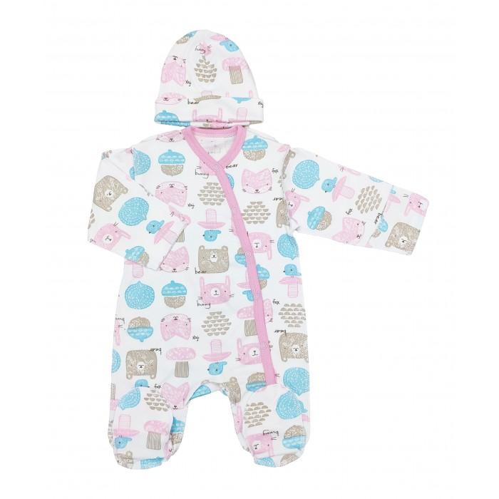 Комплекты детской одежды Veddi Комплект для девочки (комбинезон, шапочка)