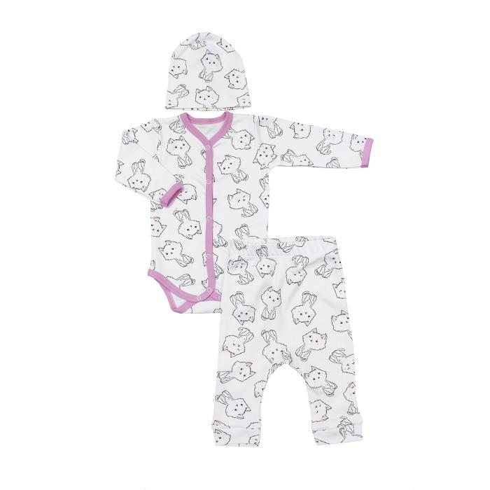 Комплекты детской одежды Veddi Комплект для девочки (шапочка, боди, штанишки) 661и-190